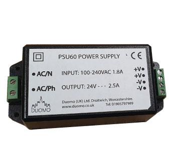 PSU60 230VAC - 24VDC Power Supply