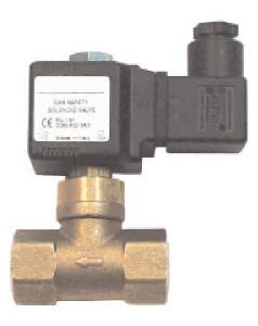 Pilot solenoid gas valve