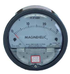 Differential pressure gauges for air and gas