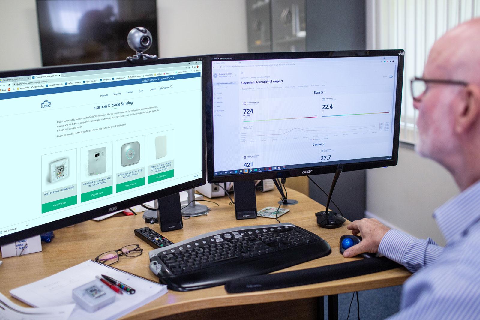 CO2 monitors dashboard