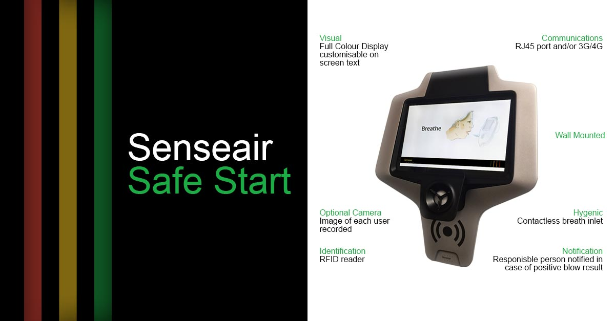 Alcohol Screening System - Senseair Safe Start