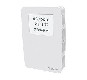 tSENSE Display - Senseair CO2, Temperature & RH Wall Mounted Monitor
